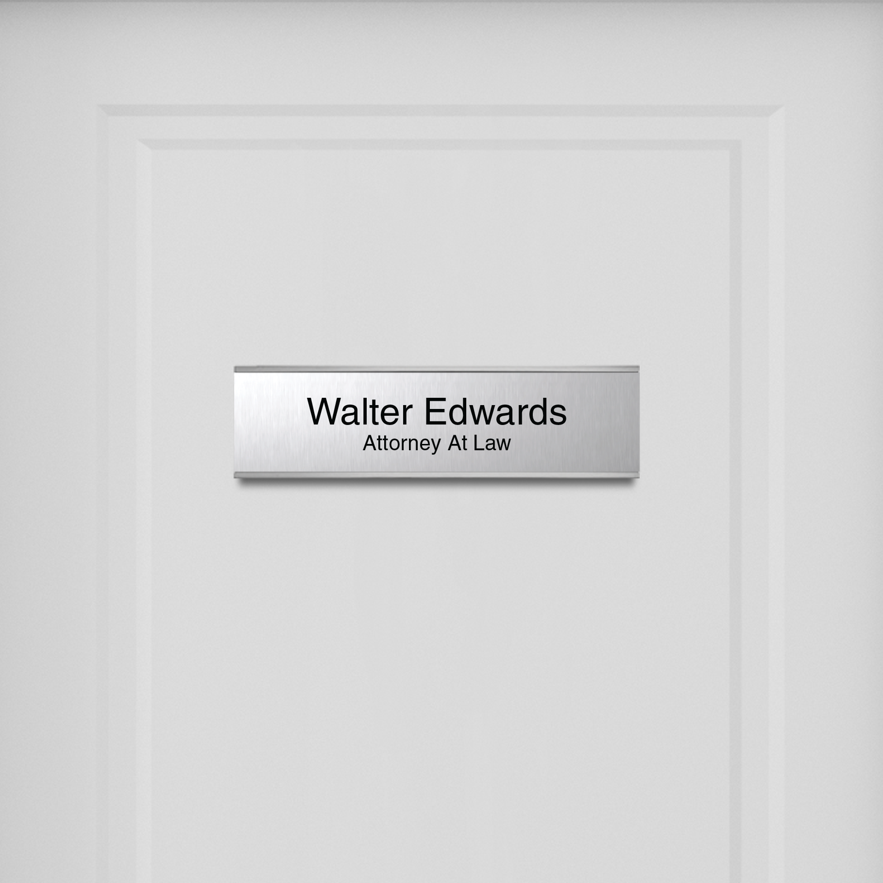 Standard Engraved Wall Nameplate