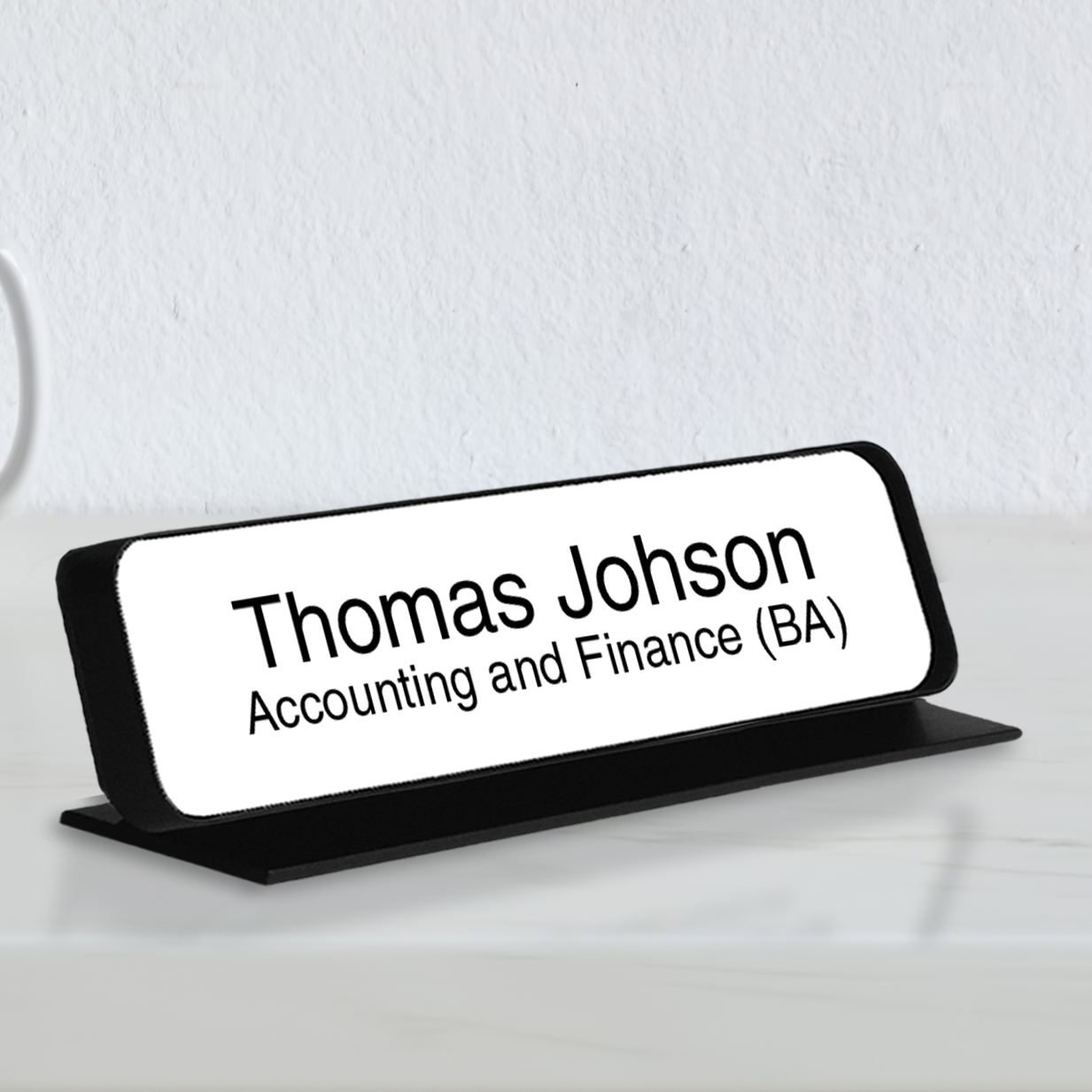 Deluxe Engraved Desk Nameplate